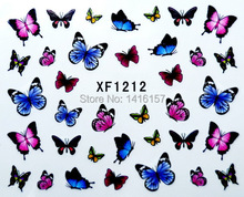New Water Transfer Nail Art Stickers Decal Beauty Colorful Butterfly Design Decorative Foils Stamping Tools