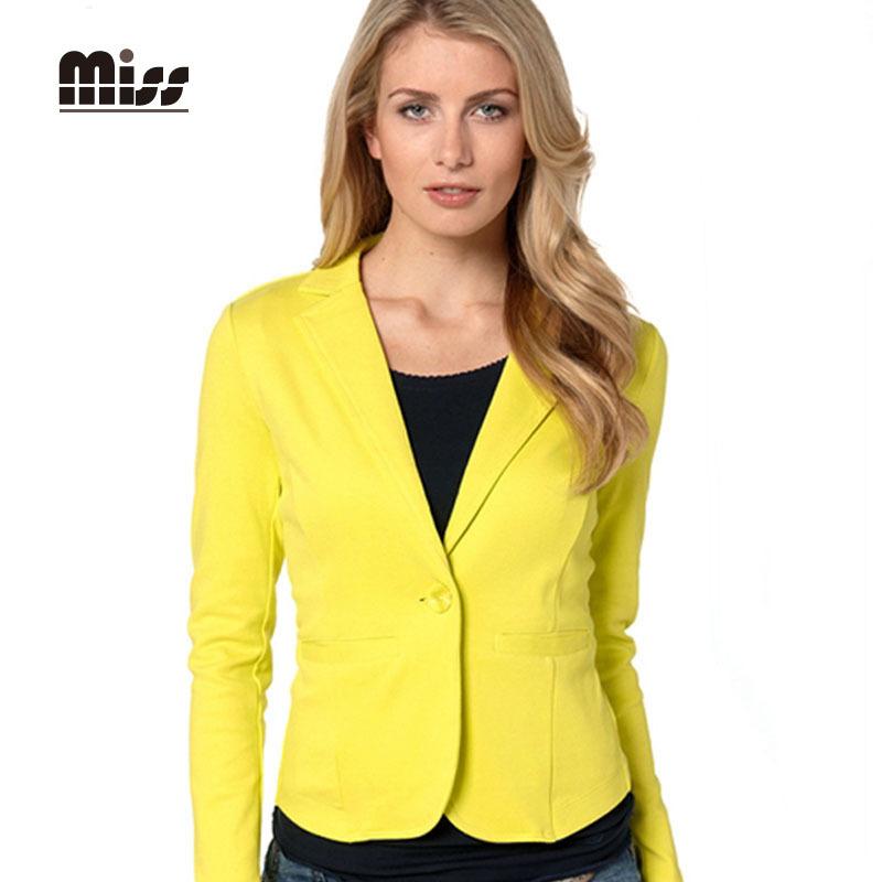 Popular Yellow Blazer Womens-Buy Cheap Yellow Blazer Womens Lots From China Yellow Blazer Womens ...