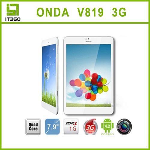 Onda V819 3G Quad Core Phone Call Phablet 7 9 IPS Android 4 2 1GB 16GB