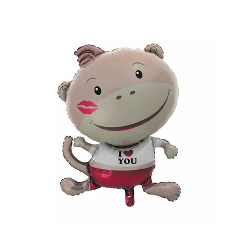 Monkey Foil Balloons Red Lips Monkey Mylar Balloon Lovely Kids Toy for Birthday Party Decoration(China (Mainland))