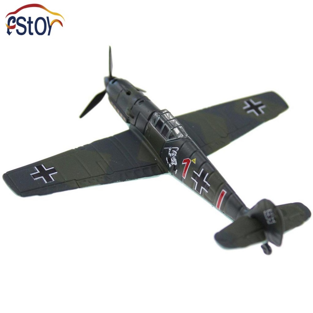 Alloy 1:100 Messerschmitt BF 109E-1 World War Warplane Rotatable 3 Leaf airscrew Diecast Model(China (Mainland))
