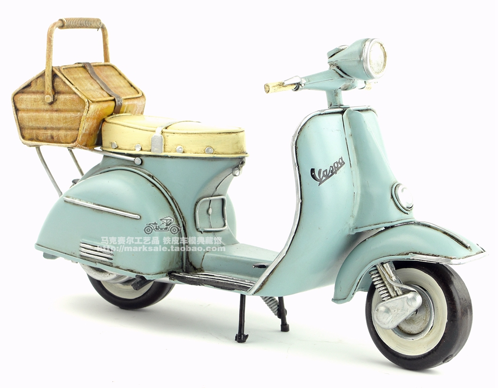 Brand New Motorbike Model Toys 1965 Italy VESPA Handmade Metal Artefact Motorcycle Model Toy For Collection/Decoration/Gift(China (Mainland))