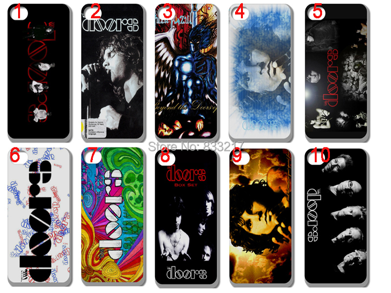 10 pcs/lots the doors band hard White case cover for iphone 5 5S +free shipping(China (Mainland))