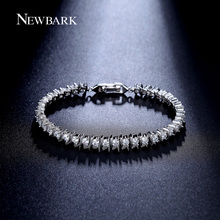 NEWBARK Hot Sale 38pcs CZ Bracelet Round 3mm Zirconia Prong Setting Sport Tennis Bracelets For Women Jewelry Gifts(China (Mainland))