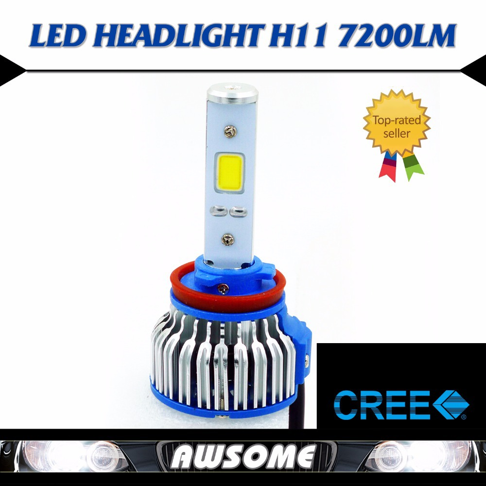 2x H11 CREE COB LED 48W/Set 7200LM/Set Strong Brighter White Car Truck DRL Fog Driving Headlight Lamps Waterproof IP68 <br><br>Aliexpress