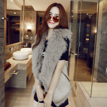 Woman Vest coat brand fashion 2015 new winter fur Genuine leather super warm vest wool solid casual noble sleeveless coat