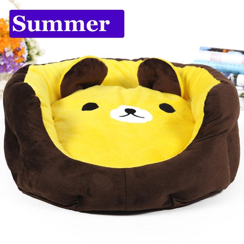 Cute cartoon bear Washable small dog cat Princess sofa bed mat House Kennel winter Soft Fleece warm Pet Dog Cat teddy Bed nest