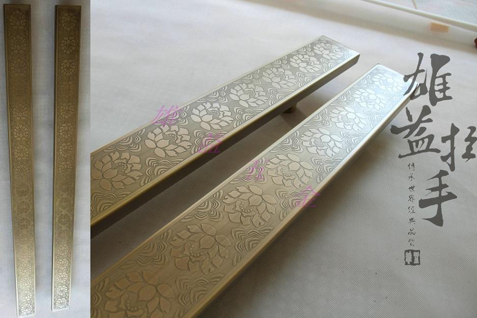 Antique brass door pull crafts glass door wooden doors into the hands of European modern luxury hotel clubs handle<br><br>Aliexpress