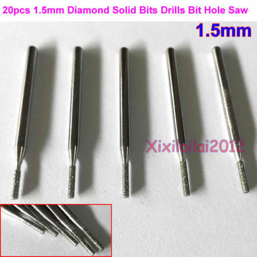 20pcs 1.5mm Diamond Hole Saw Tile Ceramic Glass Porcelain Marble Solid Drill Bit(China (Mainland))