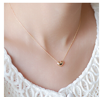 NK423 Colar Exo Bijoux Collier Vintage Maxi Gold Plated Heart Pendants Necklaces For Women Wedding Jewelry