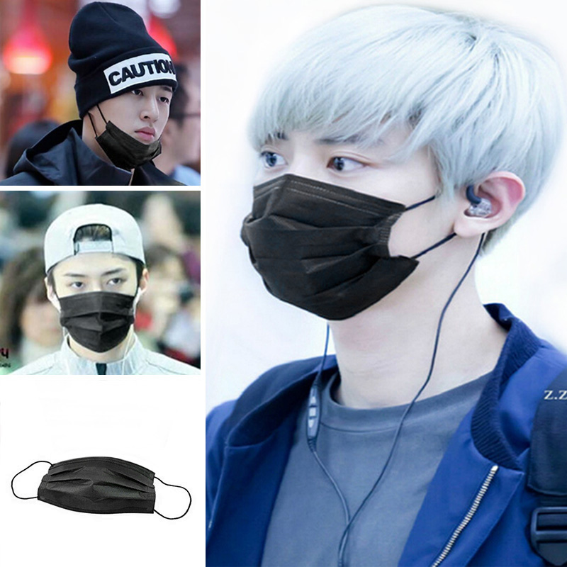 disposable mask black