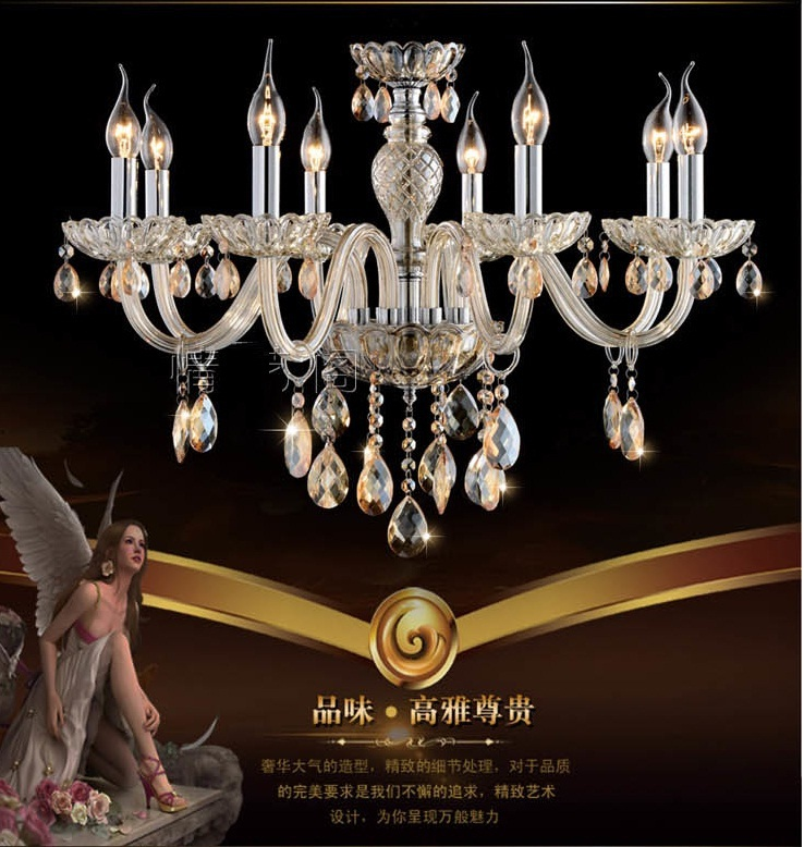 Modern Crystal Light lustre Crystal Pendant Chandelier Light Luxury Crystal light fixture lustres de cristal indoor lighting(China (Mainland))