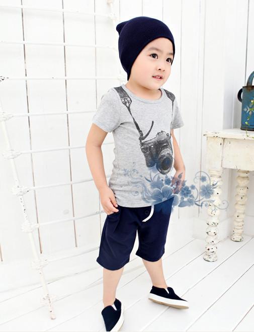 Hot sale 2015 New arrive Boys Kids Cartoon Round Neck Short Sleeve T shirt Children s