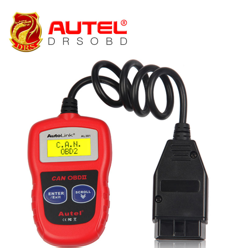 Autel AutoLink AL301 OBD II & CAN Code Reader AL301 Free Update Online Reads and displays Diagnostic Trouble Codes (DTCs)(China (Mainland))