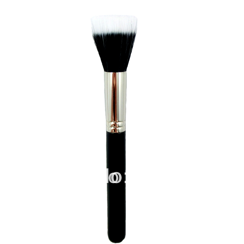 H127 - Duo Fibre Makeup Cosmetic Dou Fiber Stippler Mineral Brush Blush Foundation Powder Beauty(China (Mainland))