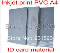 Blank Inkjet printable PVC sheets A4 size 50sets white color thickness 0.96mm for ID cards making