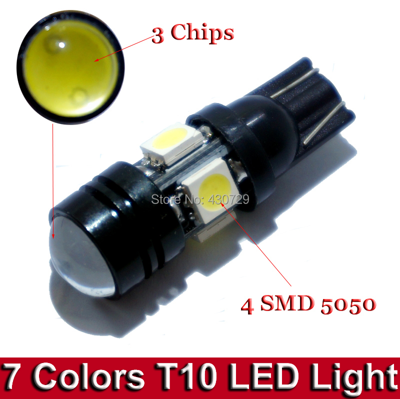 High Quality 2pcs Super Bright 168 192 T10 W5W LED Car Bulbs Auto Lamp With Projector Lens for Parking Side Light(China (Mainland))