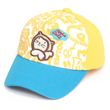 Hot 1 pc Chic Kids Toddlers Baby Boys Hat Cartoon Cat Baseball Cap 3 Colors