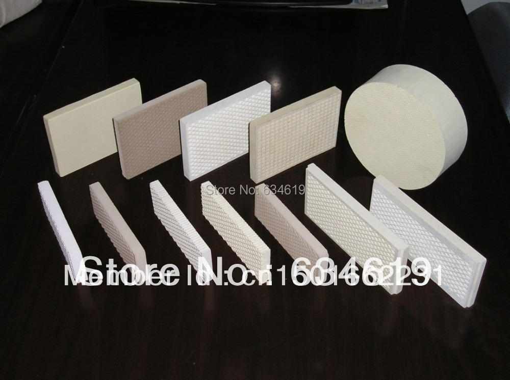 Infrared gas ceramic plate, bbq grill cordierite ceramic, catalytic infrared heat reflected plates, bbq grill accessories parts(China (Mainland))