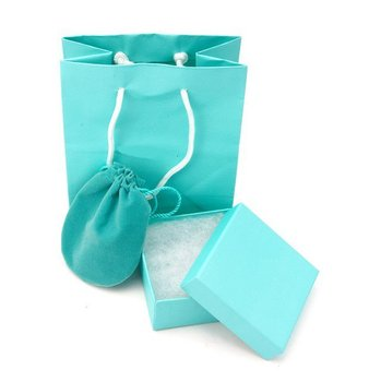 Wholesale Beautiful Jewelry Packaging,Conatin 4 Items,Paer Bag,Box,Dust Bag and Card.Charming Full Boxing Matching With Jewelry