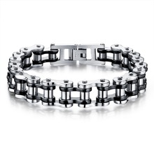 Fashion Jewelry Delicate Punk Style Stainless Steel Male Bracelet Classical Heavy Metal Link Chain Men Accessories