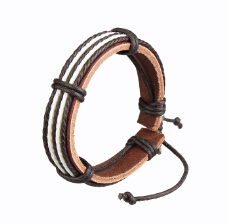 Seanuo Loss money handwoven genuine leather cuff bracelet men fashion unisexy colorful women wristband rope bangles DIY jewelry(China (Mainland))