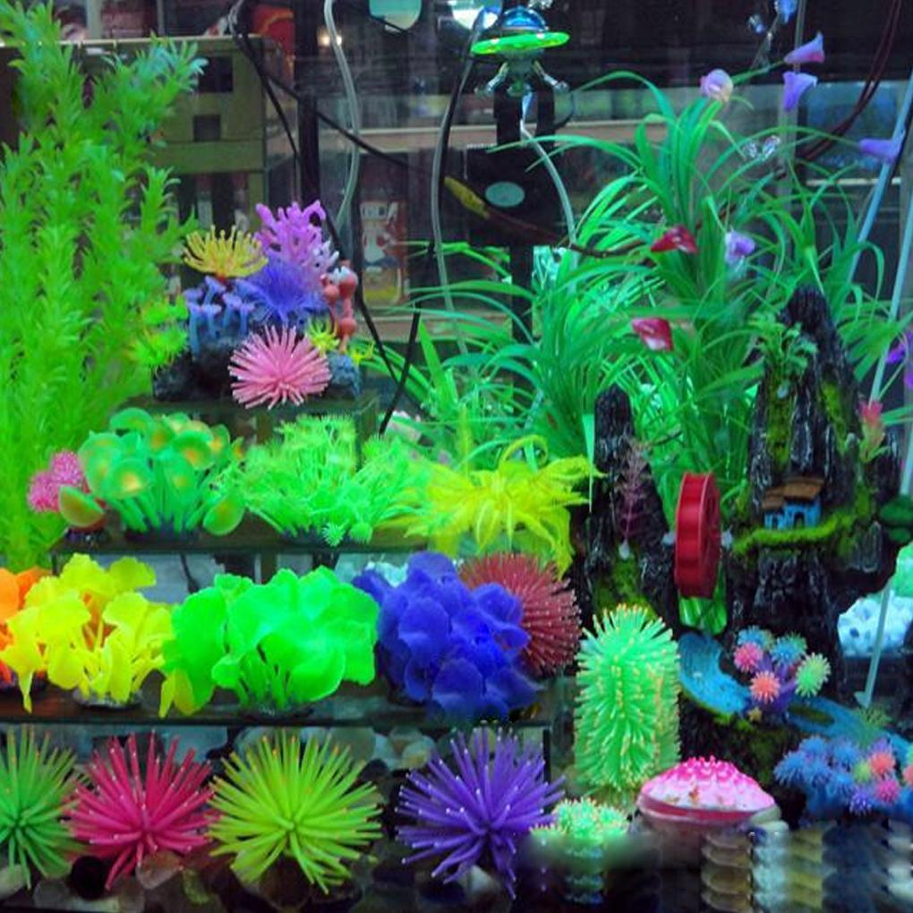 2018 Wholesale Hot Sale ful Artificial Plastic Flower Aquarium Decor ...
