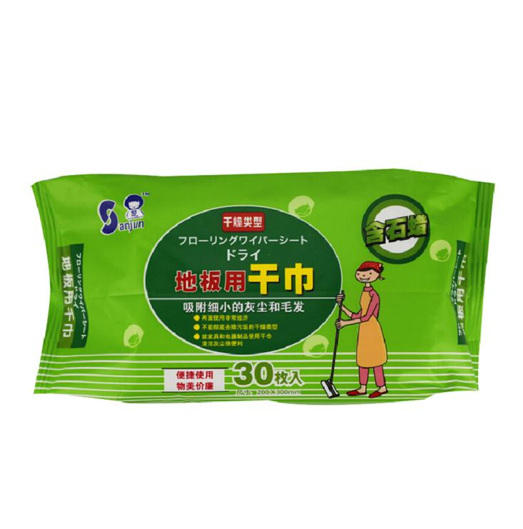 Sanjun disposable antiseptic dry floor wipes cleaning for Mop for floor wipes