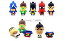 Best Gift Hot Sale superhero avenger pendrive Usb 2.0 Robot Usb flash drive 8GB 16GB 32GB 64GB cartoon pen drive free shipping(China (Mainland))
