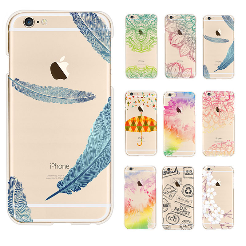 utterfly phone case Umbrellas color pattern Cases for Apple iphone 6 6S /Plus Cover Clutch coque Capa Para Celular(China (Mainland))