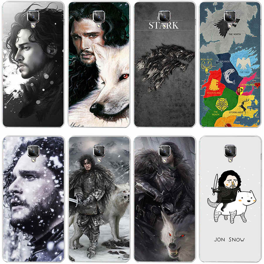 234GH jon snow game throne Hard Transparent Cover Case Oneplus 3 3T