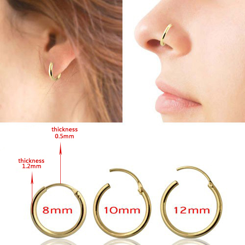 925 sterling silver Hinged Clicker Ring Hoop Tragus Nose Ring Septum Helix Ring Nipple Cartilage(China (Mainland))