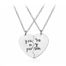 Buy Person Broken Puzzle Heart Matching Pendant Necklace Jewelry Valentines Day Best Friend Gift Friendship Necklaces for $1.69 in AliExpress store