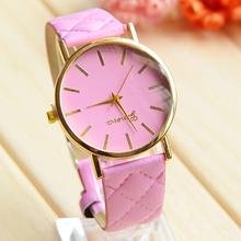 Hot New Relojes Geneva Fashion Leather Watch Analog Quartz Ladies mujer dress women watches 2015 brand