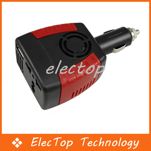 Car Vehicle Inverter 150W 12V DC to 110V/220V AC Charger Adapter 30pcs/lot Wholesale(China (Mainland))