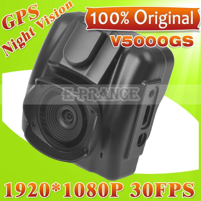 2013 New Arrival  100% Original V5000GS Ambarella Chip Car DVR GPS  +5MP  OV5653 Cmos+FULL HD 1080P 30FPS+G-Sensor +Night Vision