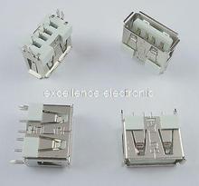 50 Pcs New USB 2.0 Female Type A 4 Pin PCB Connector 180 Degree DIY(China (Mainland))