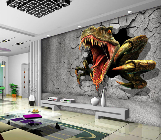 3d dinosaur wallpaper personalized custom wall murals for Custom wall mural
