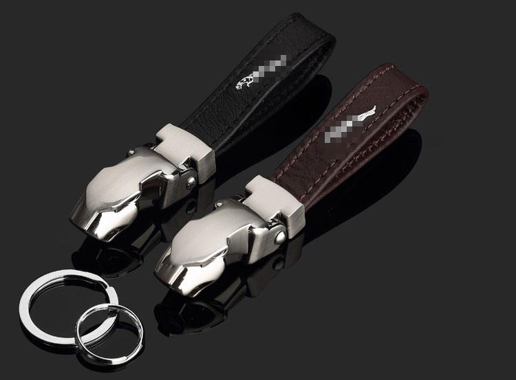 Jaguar Leather Key Ring
