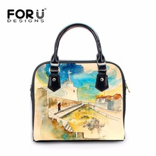 Buy FORUDESIGNS 3D Painting Printing Women Casual Tote Shoulder Bags Fashion PU Leather Messenger Bags Ladies Handbags Crossbody for $44.79 in AliExpress store