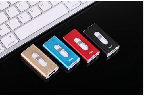 2016 Metal Pen Drive 256gb 32gb 64gb Otg Usb Flash Drive For IPhone 5/5s/5c/6s/6 Plus/Ipad Pendrive 128GB Memory Card 512GB(China (Mainland))