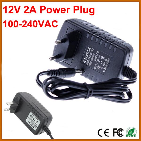 CCTV Camera Accessories Power Adapter AC 100-240V to DC 12V 2A Power Supply CCTV Cam LED Strip AC/DC Adapters Power Plug Adaptor