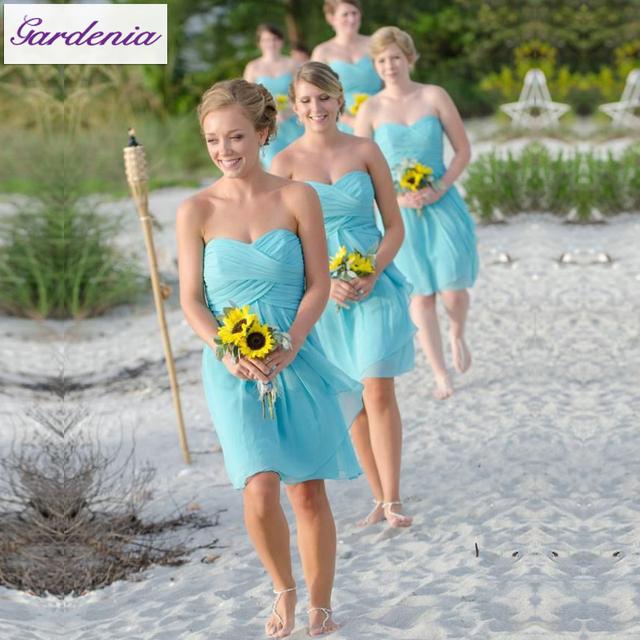 Blue Summer Bridesmaid Dresses | Wedding Gallery