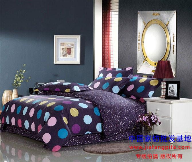 blue polka dot bedding set for queen full size duvet cover quilt bedspread bed in a bag sheet. Black Bedroom Furniture Sets. Home Design Ideas