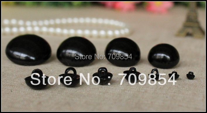 free shipping!!! 30/25/22/20/18/15/12/11/10mm full black hand sewing button eyes 500pcs/lot DIY jewelry<br><br>Aliexpress