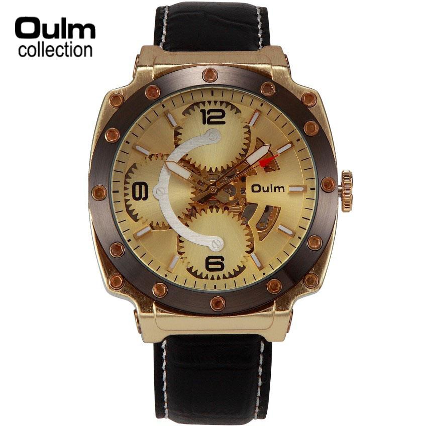 OULM Brand Watch Steel Mesh Strap Watch Dual Time Zone Quartz Men Watches<br><br>Aliexpress