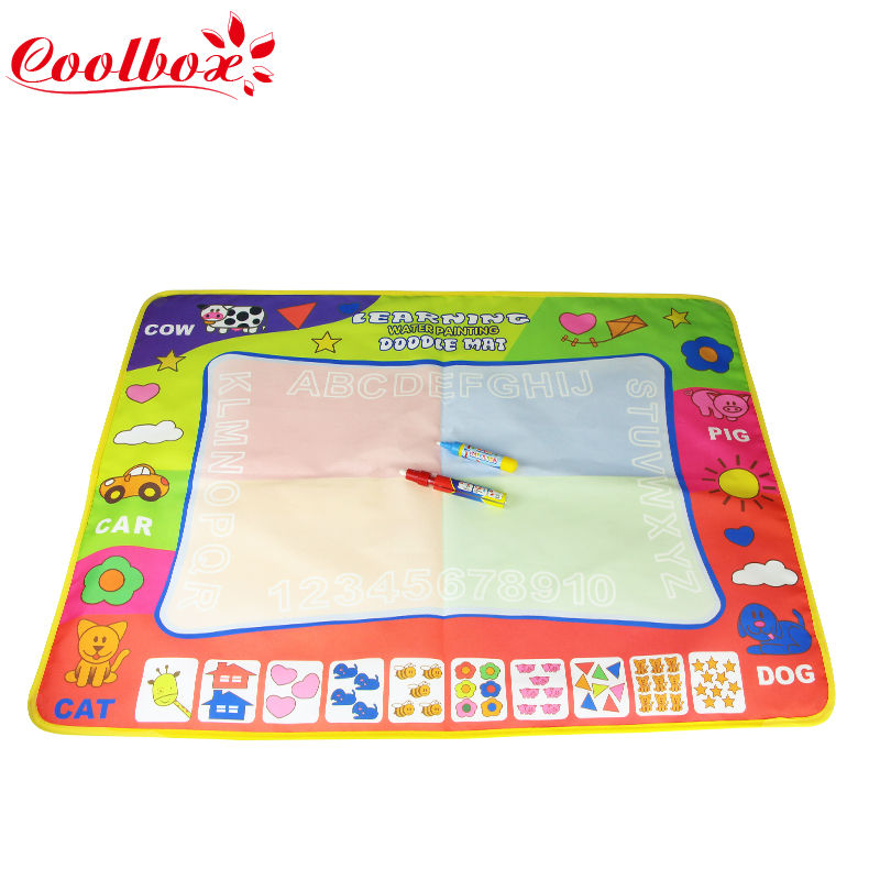 Children Aqua Doodle big size 80x60cm Drawing Toys 1 Painting Mat + 2 Water Drawing Pen Child's drawing board/drawing mat(China (Mainland))