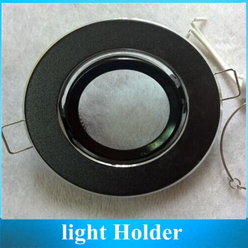LED Ceiling light MR16 Holder Socket Lamp Cup fixtures Black Lampshades 2
