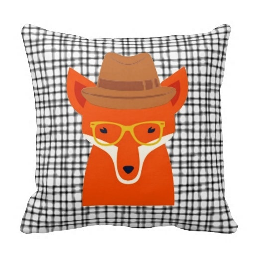 Foreign Hipster Fox Hipsta Animal Cushion Pillow Case (Size: 45x45cm) Free Shipping