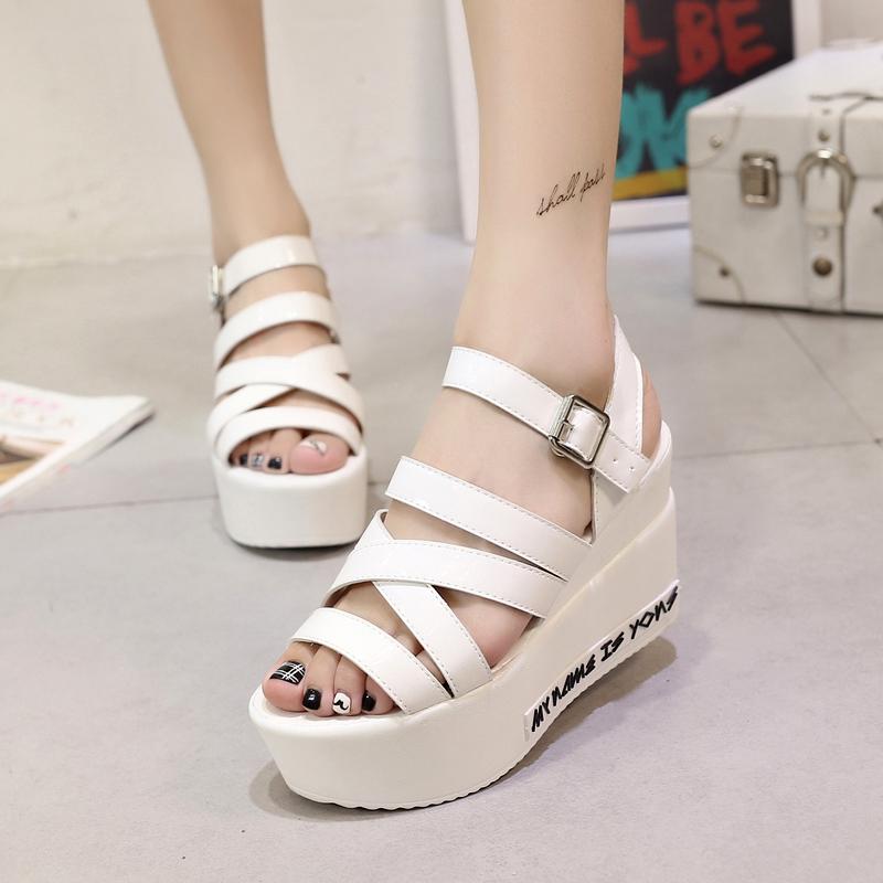 2016 womens shoes paltform sandals wedges platform flat casual platform<br><br>Aliexpress